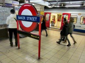 Metropolitan Line platforms, Baker Street Tube Station...