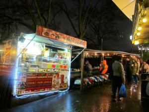 A food stall beside Camden Lock, with some interesting seating to the right ;)...