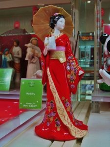 A rather appealing figurine in the window of H. Samuel in Fareham Shopping Centre...
