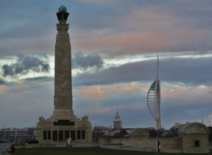 The Naval War Memorial...and the Spinnaker Tower in the distance...