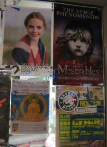 Some posters in a shop window in Camden High Street that caught my attention as I passed by...