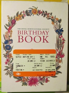 The Birthday/Address Book was a works raffle win yesterday, and the train ticket took me from Swanwick railway station (near The Village Inn) to Fratton...with more than an hour to wait for the train because of flooding in Hampshire...