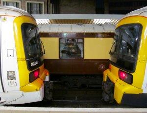 Three trains, juxtaposed...