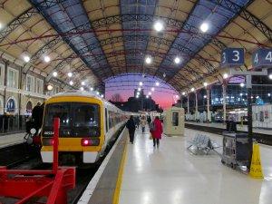 Victoria Station, around half-four this afternoon...